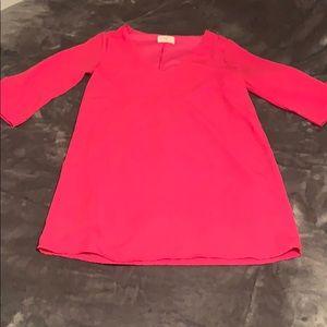 Hot pink 3/4 sleeve dress